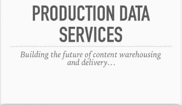 Production Data Services, Overview Deck